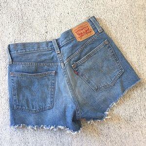Levi's 501 High Rise Denim Blue Jean Shorts